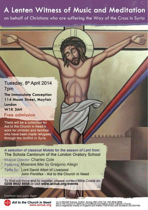 Lent Witness Event 2014 poster